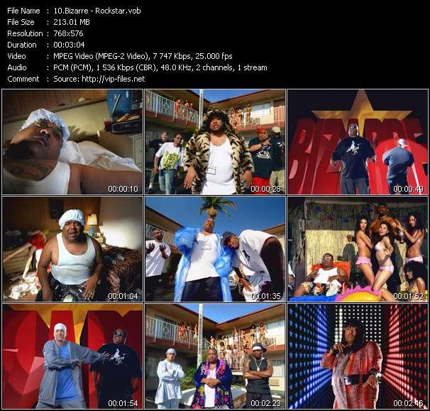 Screenshot of Music Video Bizarre - Rockstar