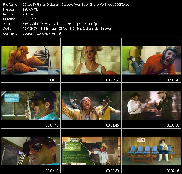 Les Rythmes Digitales видеоклип vob