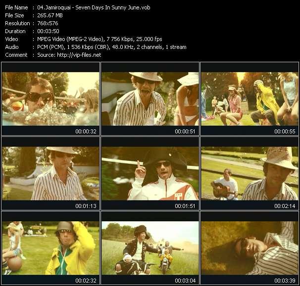 Screenshot of Music Video Jamiroquai - Seven Days In Sunny June