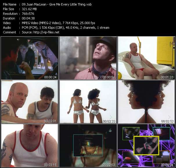 Screenshot of Music Video Juan MacLean - Give Me Every Little Thing