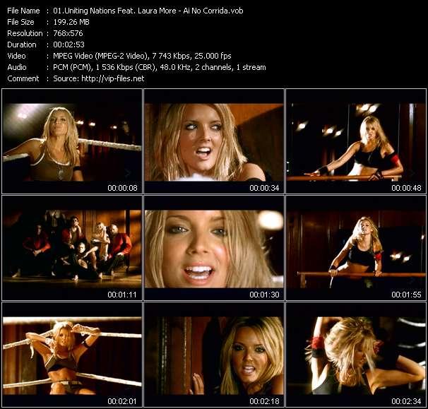Screenshot of Music Video Uniting Nations Feat. Laura More - Ai No Corrida