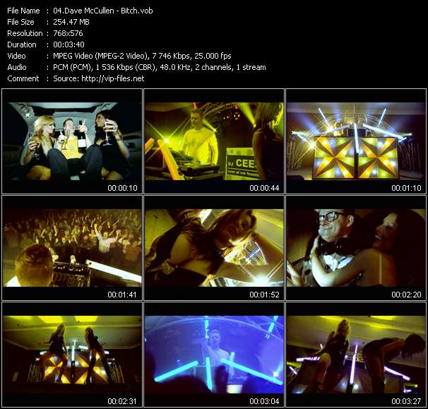 Screenshot of Music Video Dave McCullen - Bitch