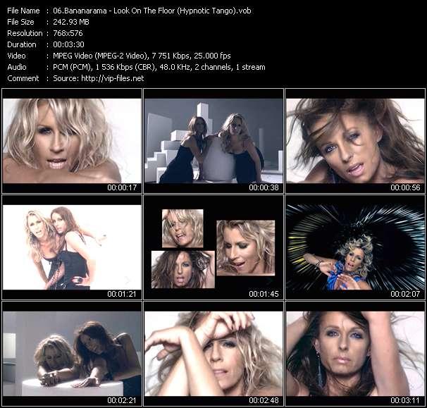 Screenshot of Music Video Bananarama - Look On The Floor (Hypnotic Tango)
