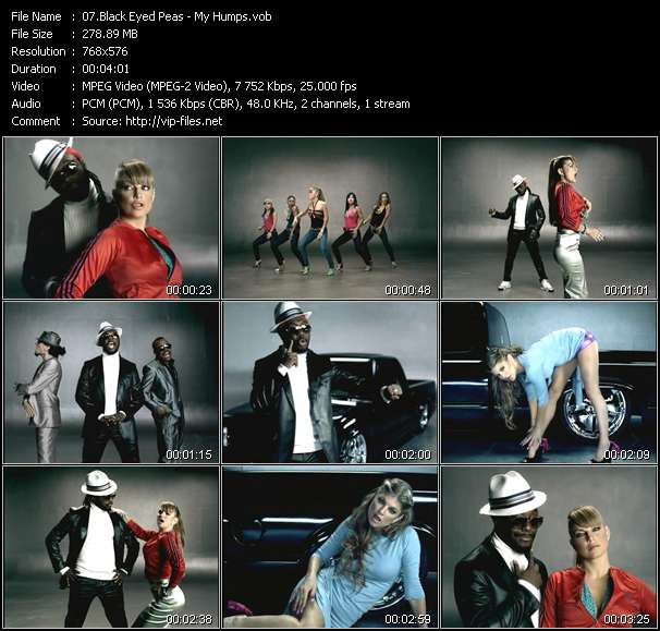 Screenshot of Music Video Black Eyed Peas - My Humps