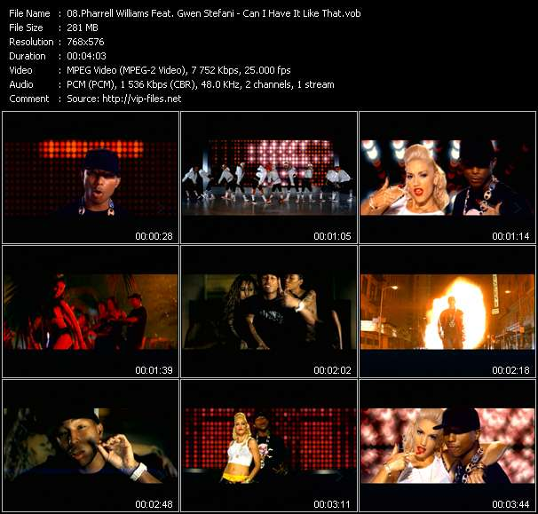 Screenshot of Music Video Pharrell Williams Feat. Gwen Stefani - Can I Have It Like That