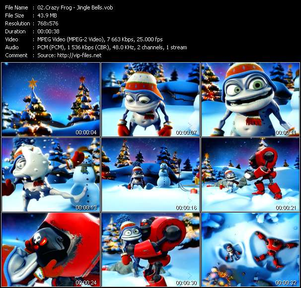 Screenshot of Music Video Crazy Frog - Jingle Bells