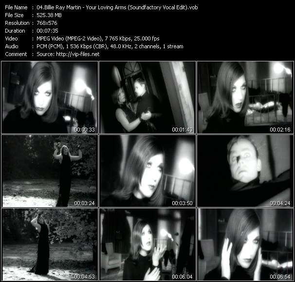 Screenshot of Music Video Billie Ray Martin - Your Loving Arms (Soundfactory Vocal Edit)