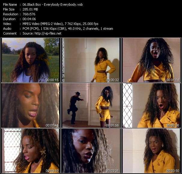 Screenshot of Music Video Black Box - Everybody Everybody