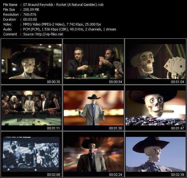 Screenshot of Music Video Braund Reynolds - Rocket (A Natural Gambler)