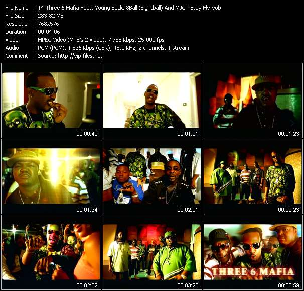 Three 6 Mafia Feat. Young Buck, 8Ball (Eightball) And MJG video vob