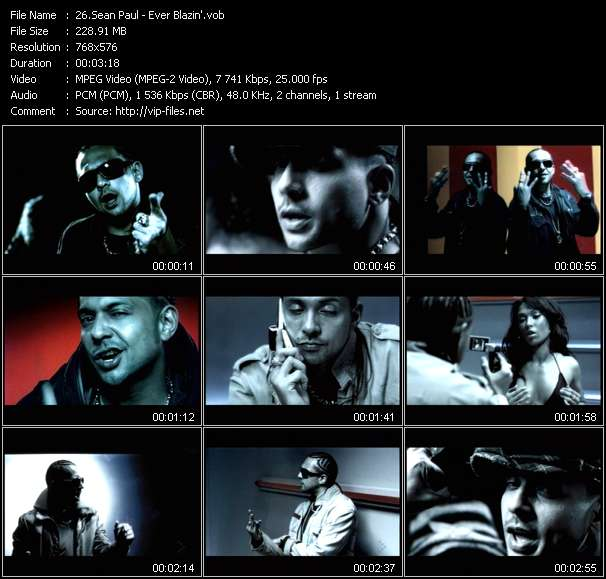 Sean Paul video vob
