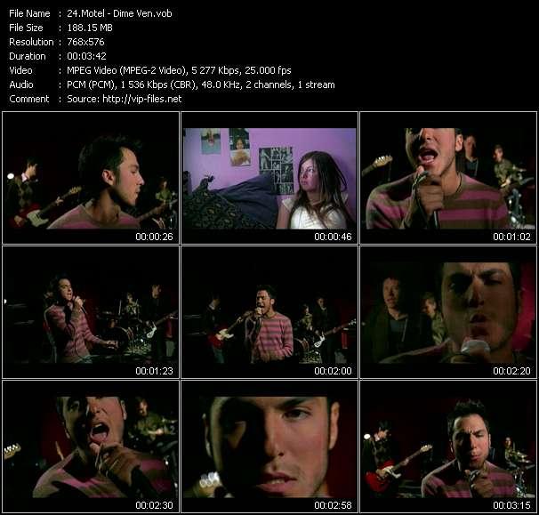 Screenshot of Music Video Motel - Dime Ven