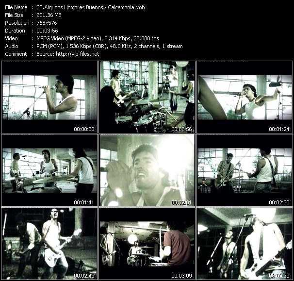 Screenshot of Music Video Algunos Hombres Buenos - Calcamonia