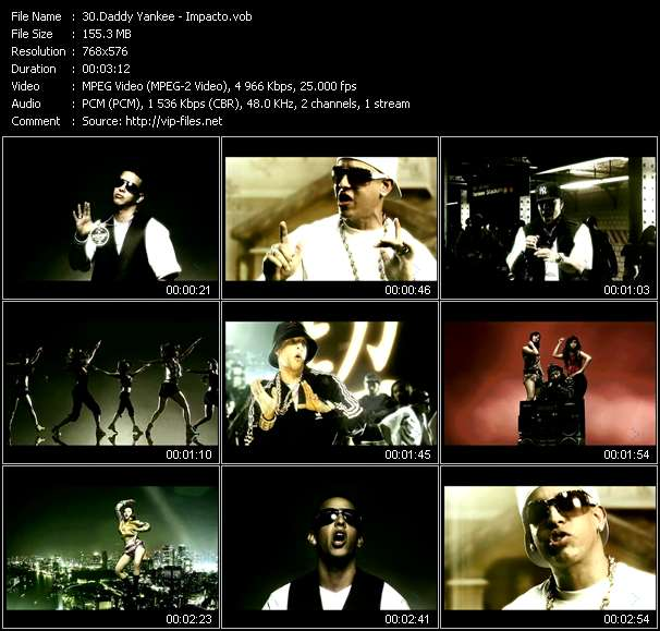 Screenshot of Music Video Daddy Yankee - Impacto