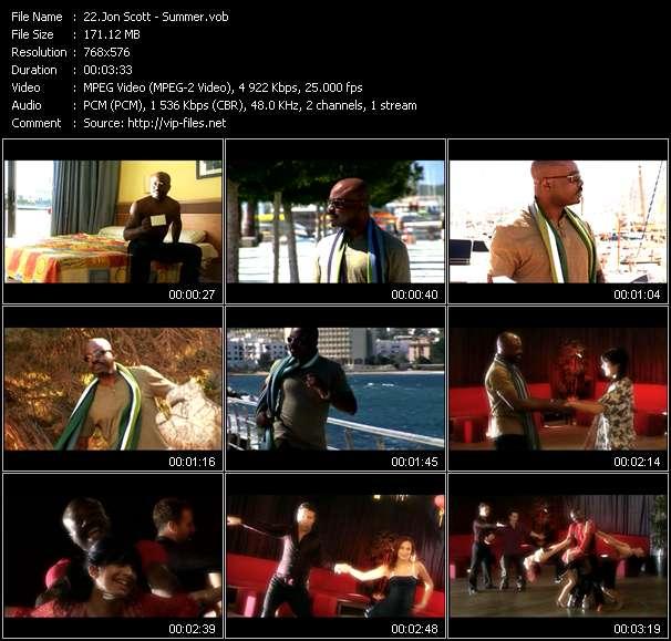 Screenshot of Music Video Jon Scott - Summer