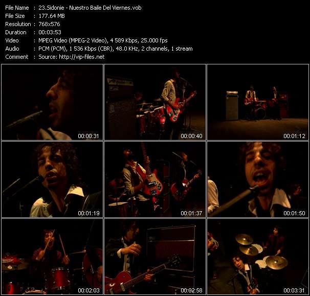 Screenshot of Music Video Sidonie - Nuestro Baile Del Viernes