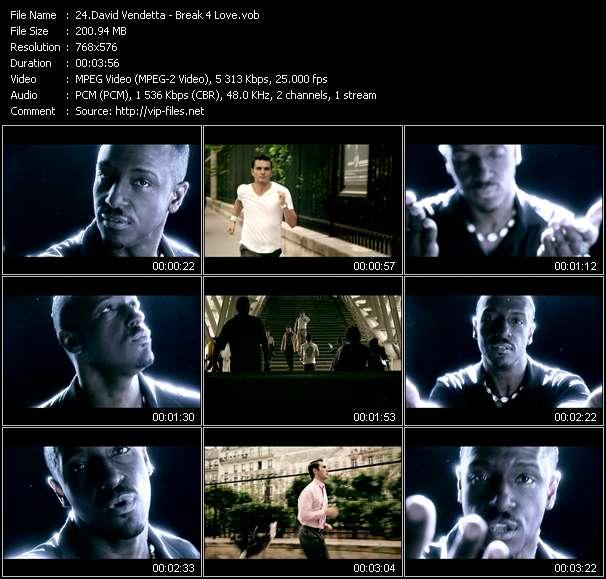 Screenshot of Music Video David Vendetta - Break 4 Love