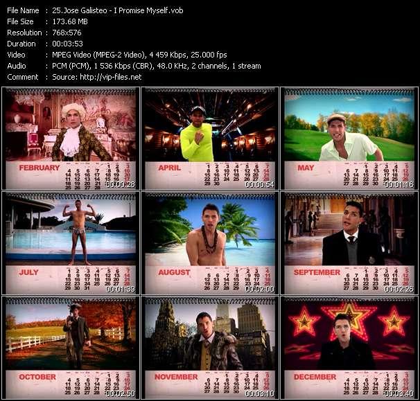 Screenshot of Music Video Jose Galisteo - I Promise Myself