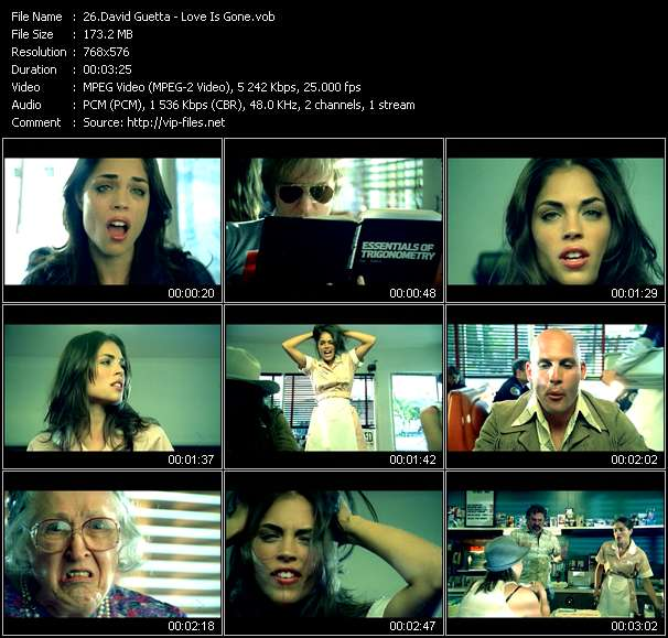 Screenshot of Music Video David Guetta - Love Is Gone