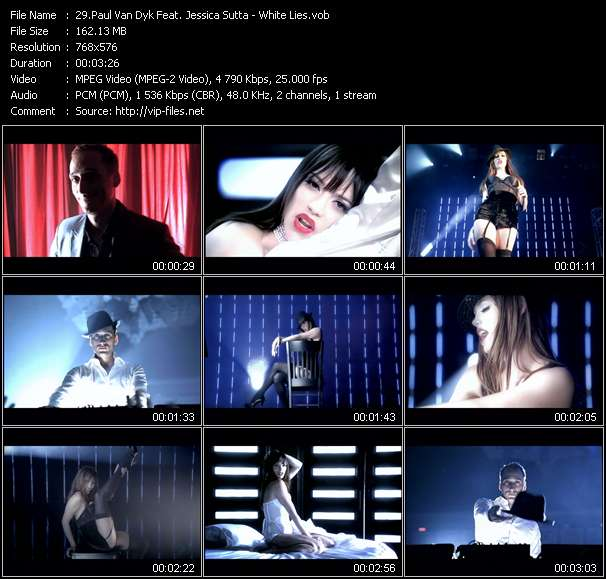 Screenshot of Music Video Paul Van Dyk Feat. Jessica Sutta - White Lies