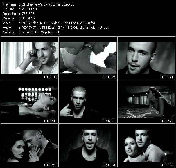 Screenshot of Music Video Shayne Ward - No U Hang Up