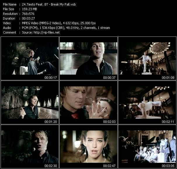Screenshot of Music Video Tiesto Feat. BT - Break My Fall