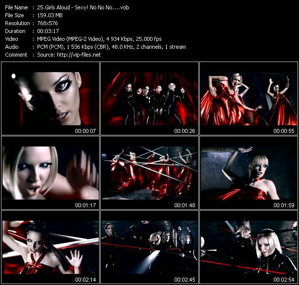 Screenshot of Music Video Girls Aloud - Sexy! No No No...