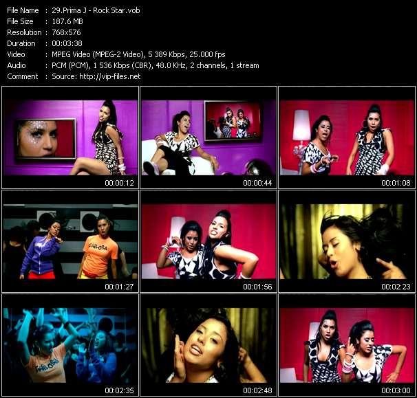 Screenshot of Music Video Prima J - Rock Star