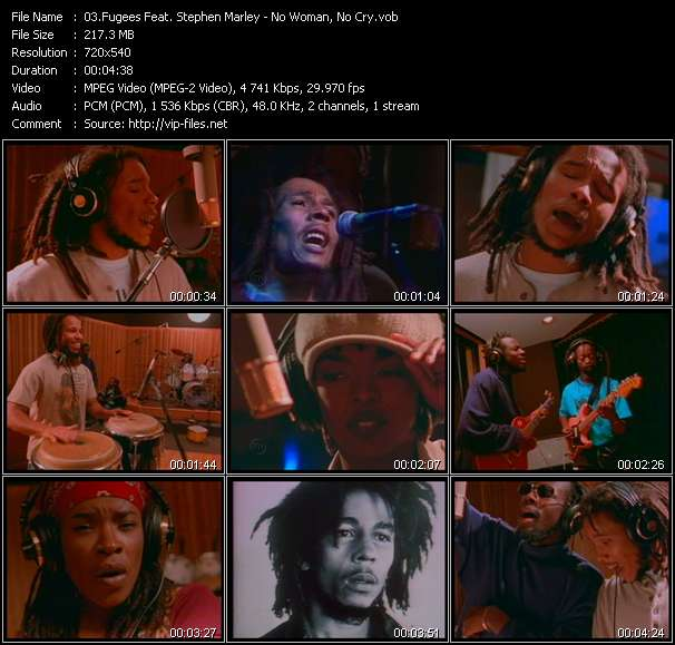 Screenshot of Music Video Fugees Feat. Stephen Marley - No Woman, No Cry