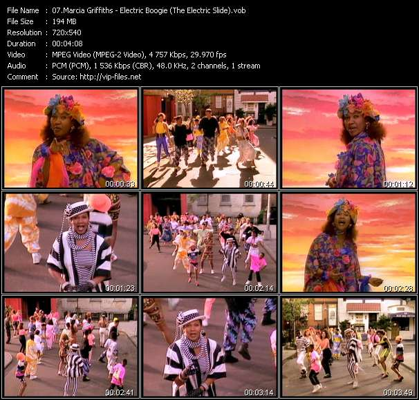 Screenshot of Music Video Marcia Griffiths - Electric Boogie (The Electric Slide)