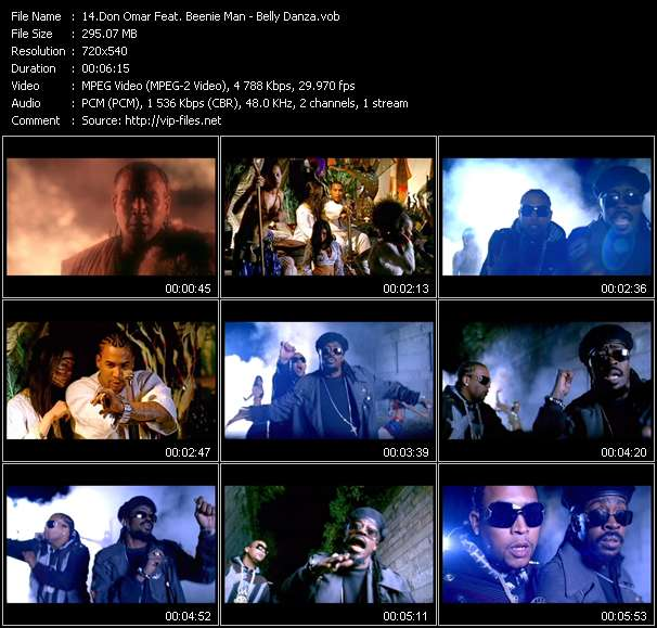Don Omar Feat. Beenie Man видеоклип vob