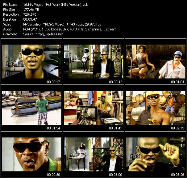 Mr. Vegas видеоклип vob
