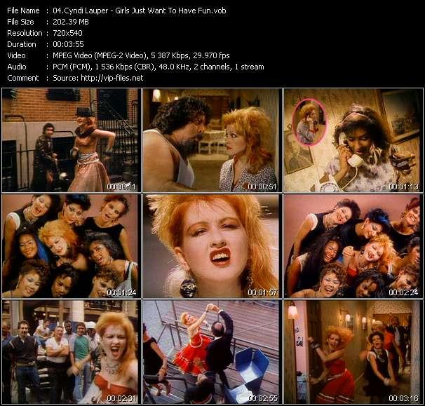 Cyndi Lauper видеоклип vob