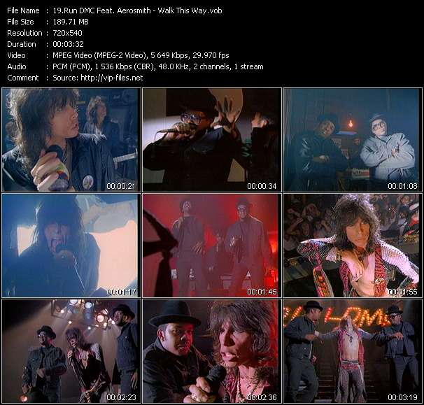 Run DMC Feat. Aerosmith video vob