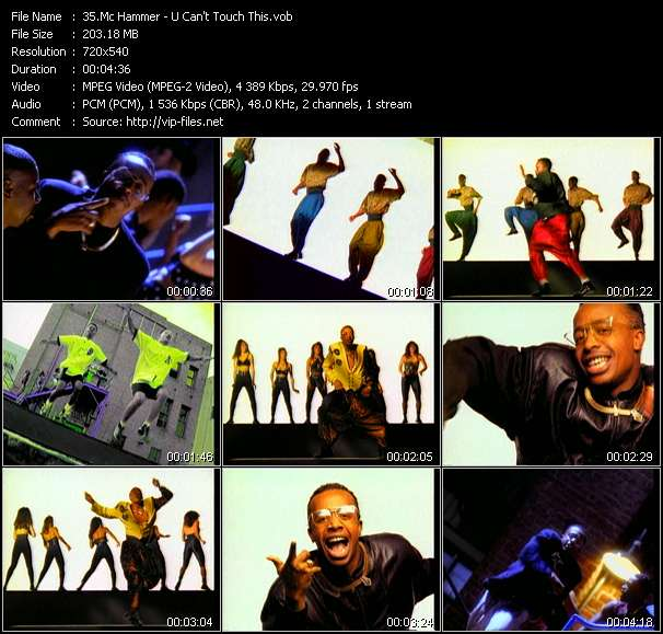 Mc Hammer video vob