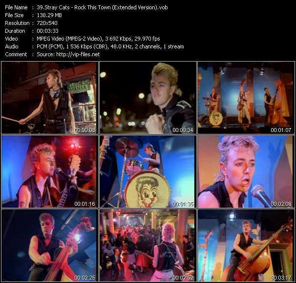 Screenshot of Music Video Stray Cats - Rock This Town (Extended Version)
