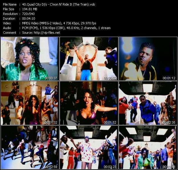 Screenshot of Music Video Quad City Dj's - C'mon N' Ride It (The Train)