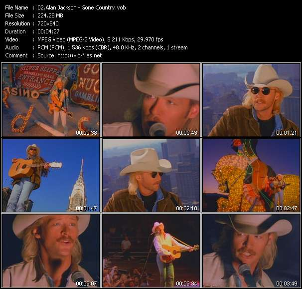 Alan Jackson video vob