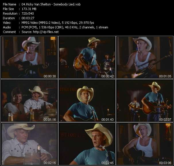 Ricky Van Shelton video vob