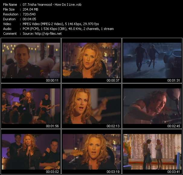 Trisha Yearwood clips musicaux vob