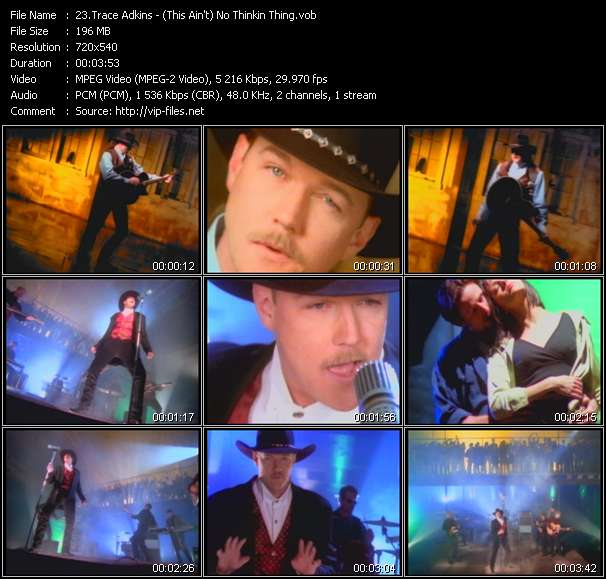 Trace Adkins video vob