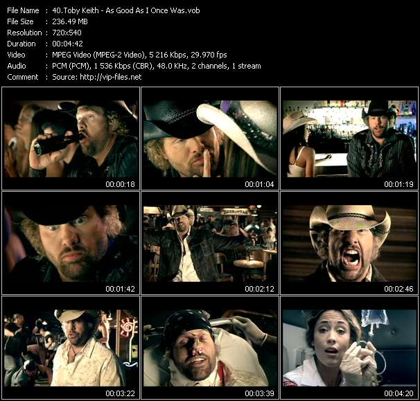 Toby Keith video vob