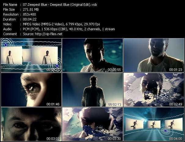 Screenshot of Music Video Deepest Blue - Deepest Blue (Original Edit)