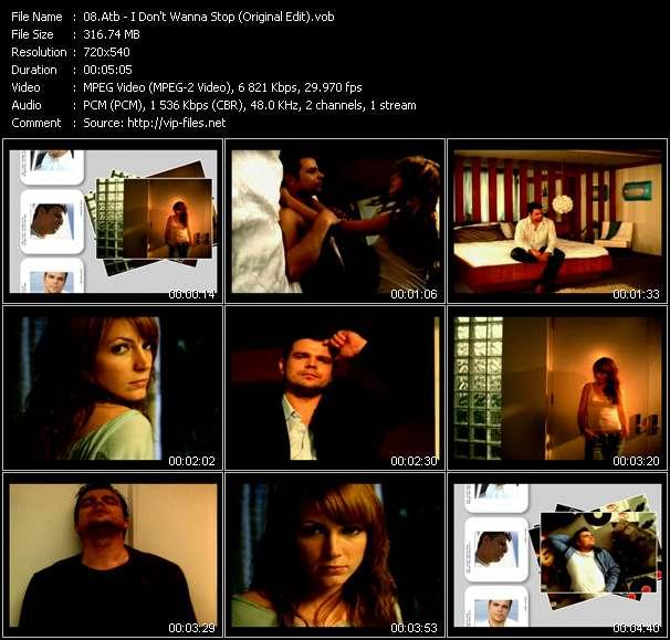 Screenshot of Music Video Atb - I Don't Wanna Stop (Original Edit)