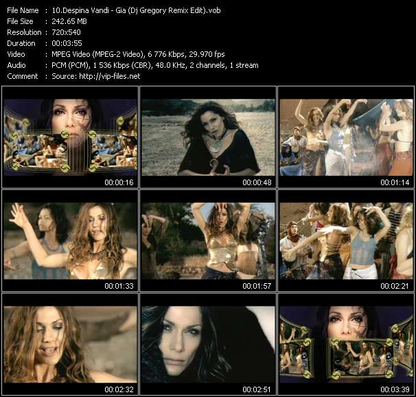 Screenshot of Music Video Despina Vandi - Gia (Dj Gregory Remix Edit)