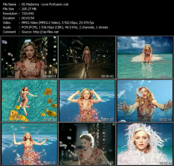 Screenshot of Music Video Madonna - Love Profusion
