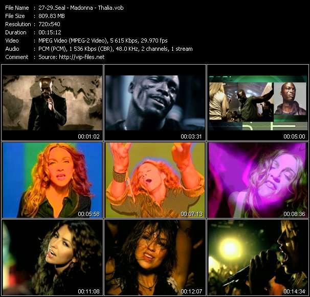 Seal - Madonna - Thalia clips musicaux vob