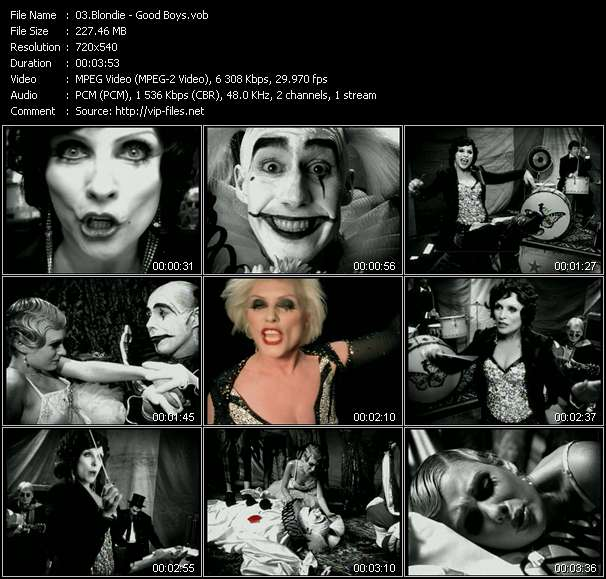 Screenshot of Music Video Blondie - Good Boys