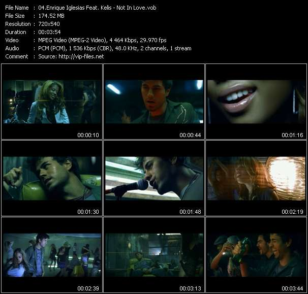 Screenshot of Music Video Enrique Iglesias Feat. Kelis - Not In Love