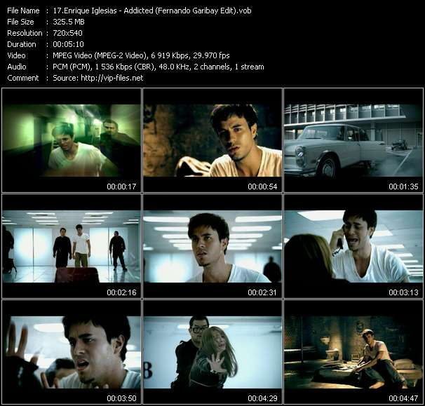 Screenshot of Music Video Enrique Iglesias - Addicted (Fernando Garibay Edit)